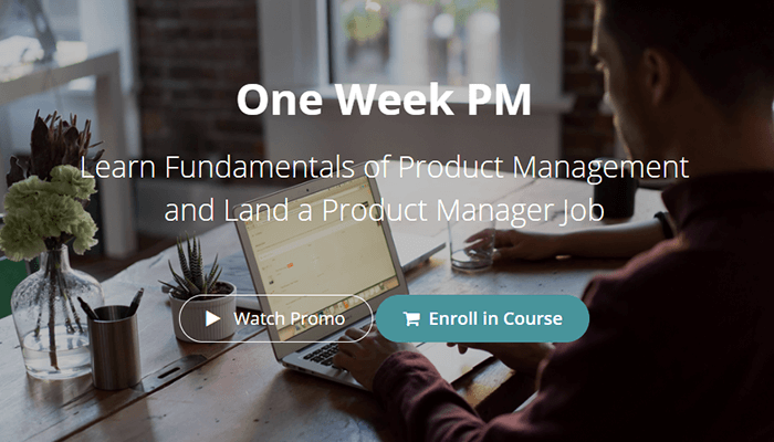 In-class product management course - One Week PM, online