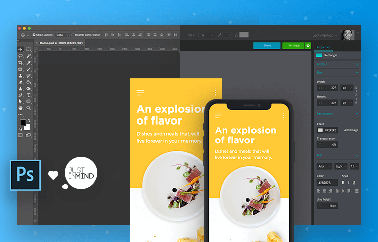 Create interactive PSD mockups with Justinmind