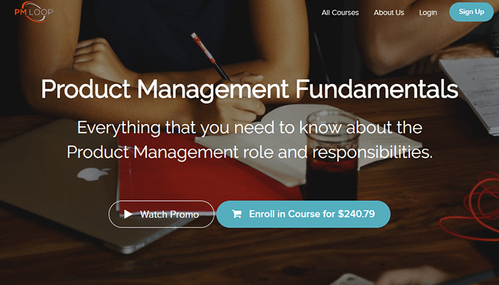 In-class product management course - PM Loop, online