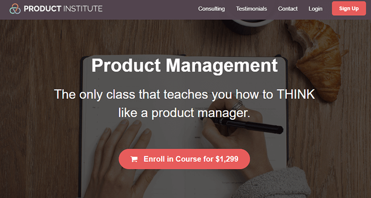 In-class product management course - Product Institute, online