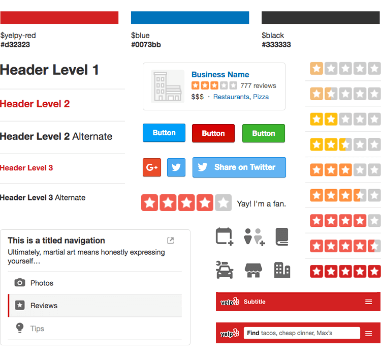 branding elements are key for consistent design at yelp