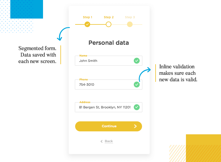 examples of form design guidelines