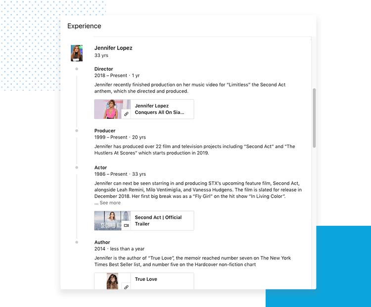 LinkedIn UX designer profiles - Career Path