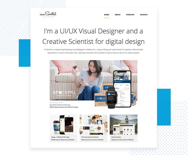 LinkedIn UX designer profiles - include a link to your website