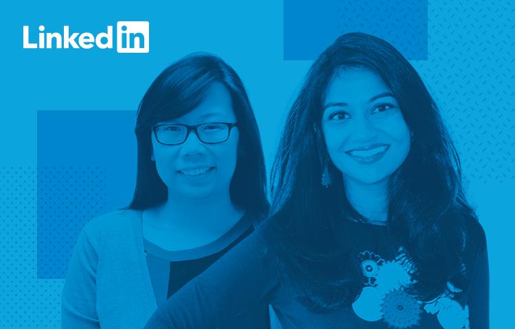 LinkedIn UX designer profiles - Sheba Najmi and Kristin Yuen