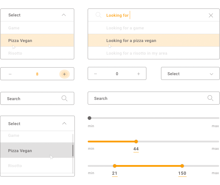 overview of ui components for sketch forms