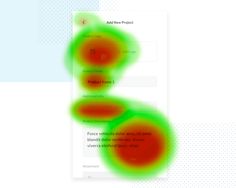 testing form prototypes using heat maps example