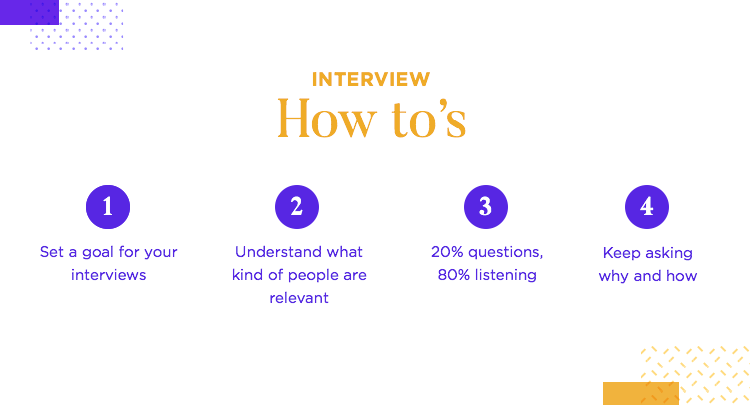 How tos of conducting interviews for ux research at fjord