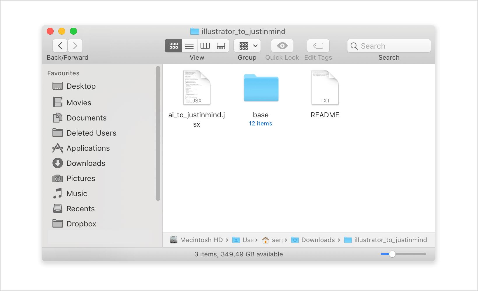 Zip file folder contents