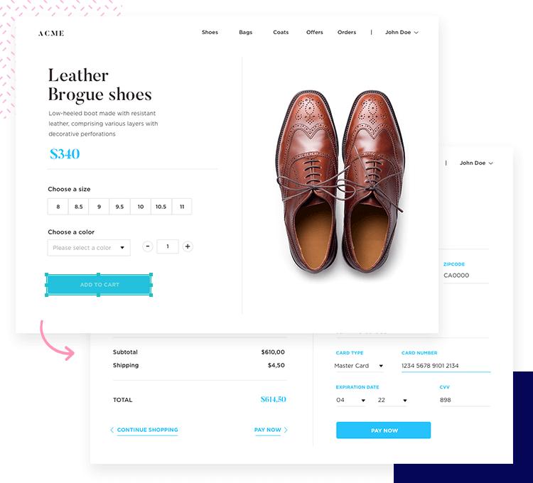 Justinmind Forms and Surveys UI kit - ideal for web design