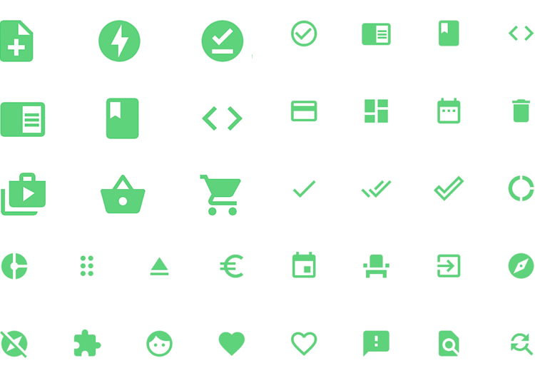 Justinmind Android Icons library - icons for every scenario