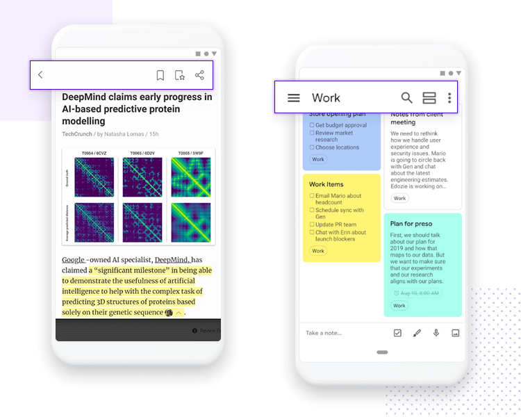 showing android wireframe with material design search bar