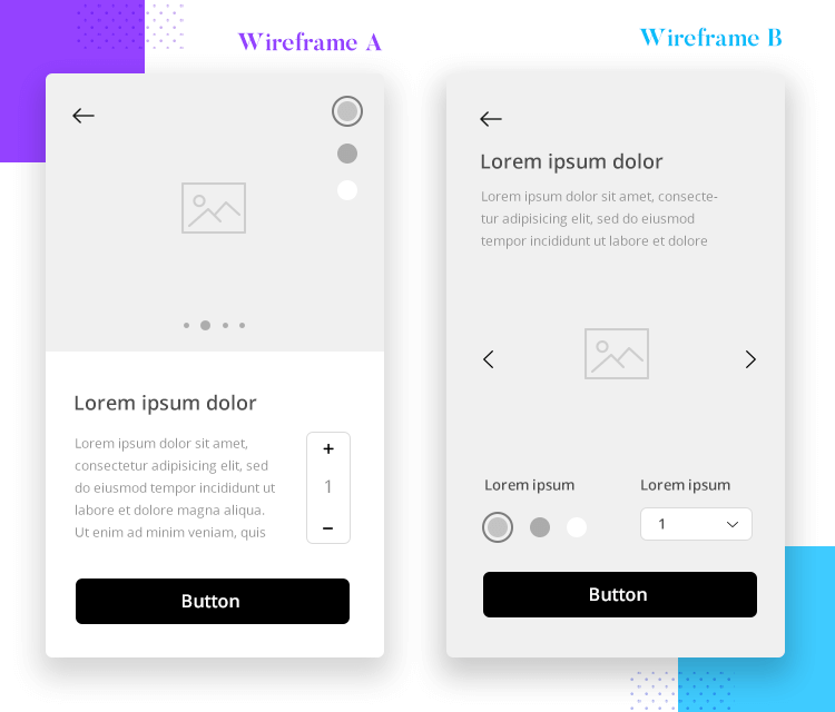 app wireframe needs reiteration for improvement