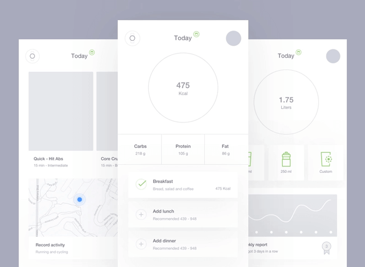 app wireframe template by son min