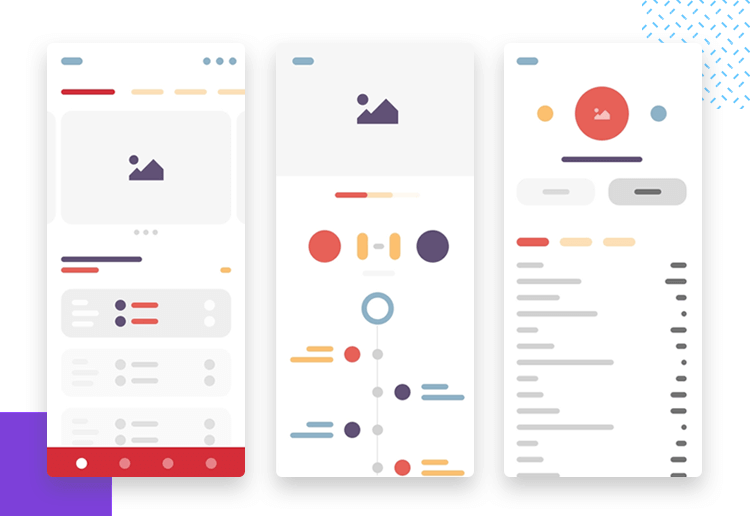 sports app wireframe template