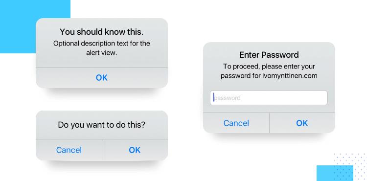 error messages in ios ui design