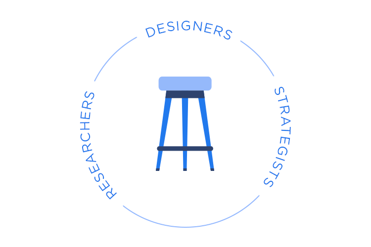 At Facebook, researchers, designers and content strategists for a three-legged stool