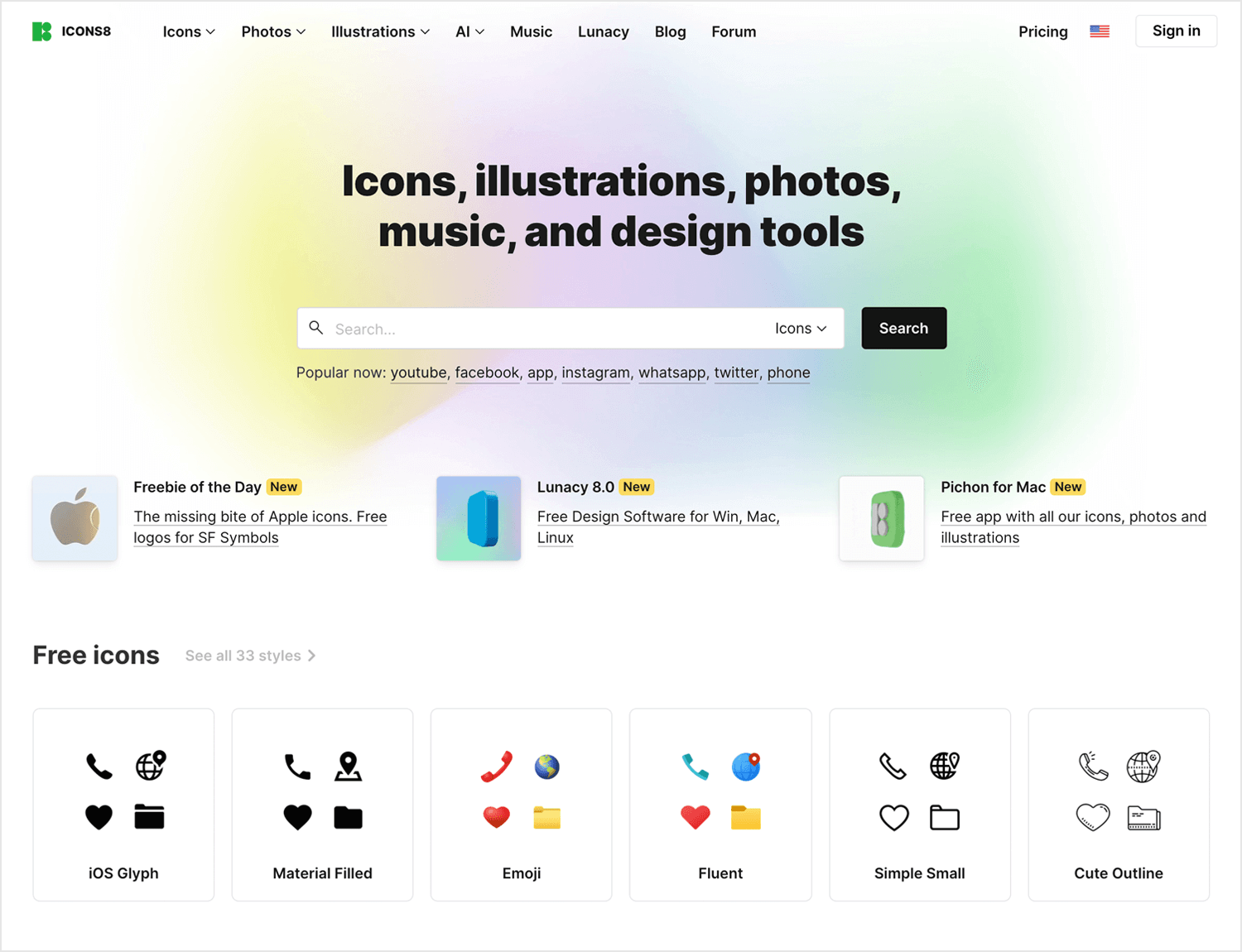 Free app icons to download - Icons8