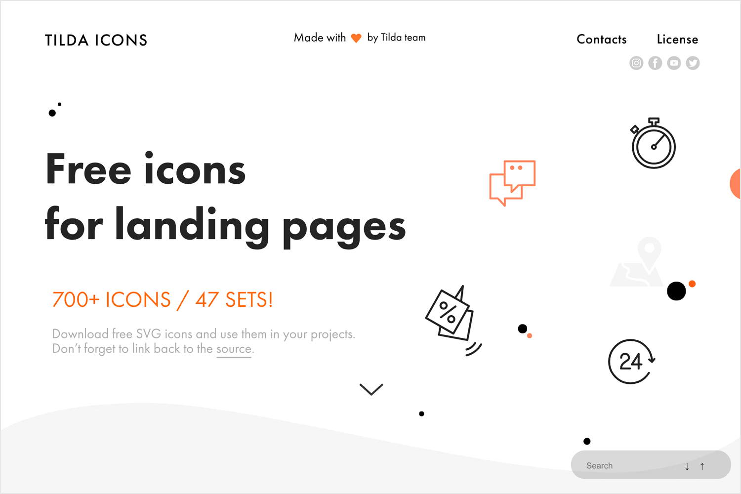 Free website icons to download - Tilda