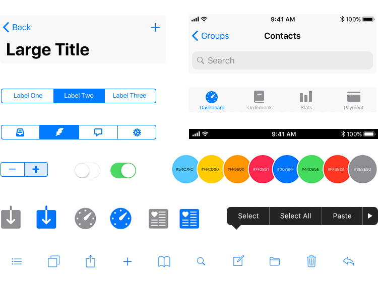 component for ios app wireframes