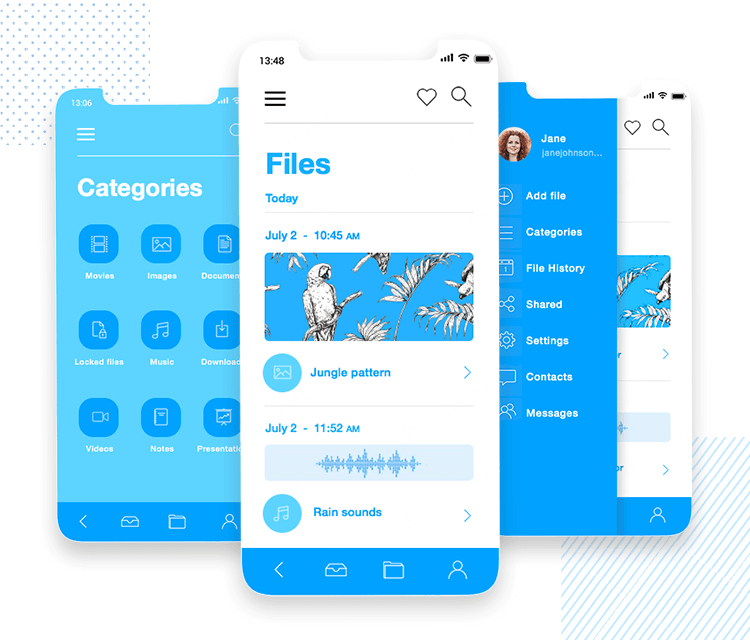 iOS Icons UI kit - how to create a storage app using our kit