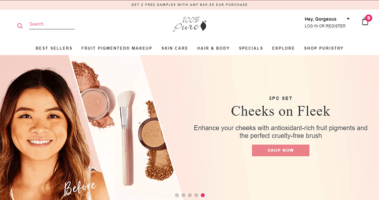 ecommerce website design for personality