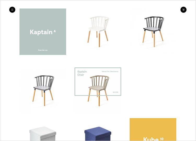 ecommerce website design with minimalism