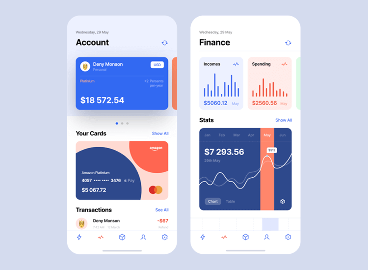 Banking app design patterns and examples - challenger apps are on the rise
