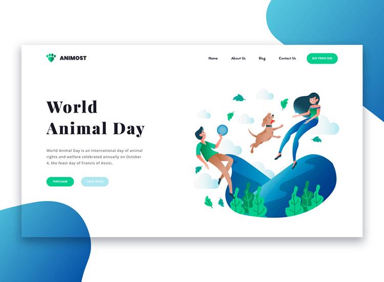 Flat website design - flat design websites use flat icons and a minimalist UI design