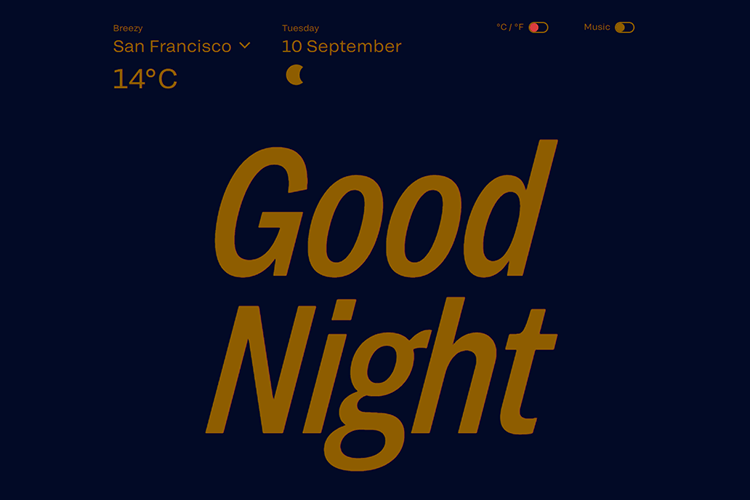 Flat website design - Wthr.live