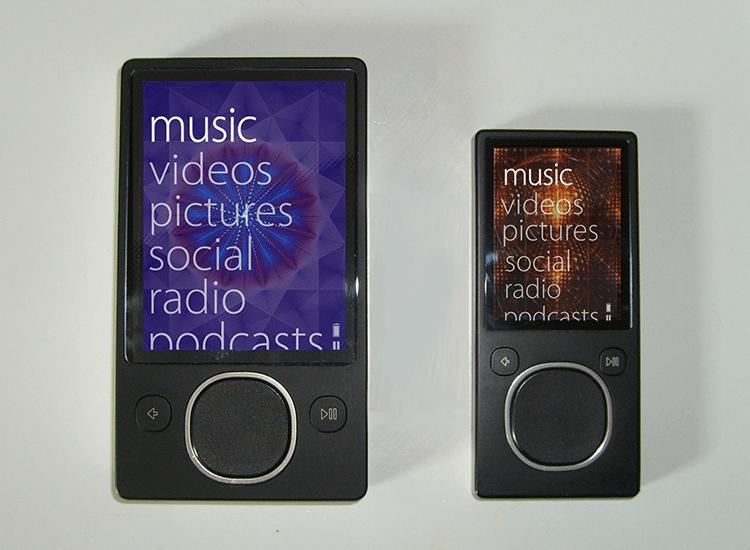 Flat website design - Microsoft's Zune MP3 player used flat UI design