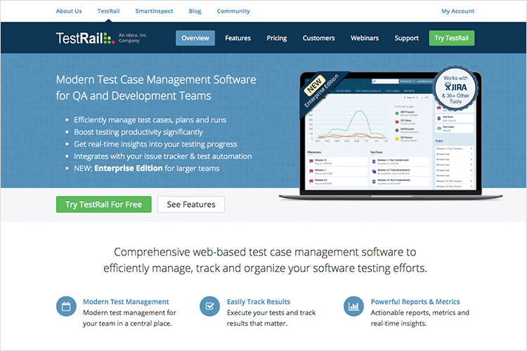 testrail usability testing tool