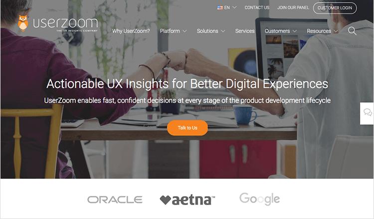 userzoom usability testing tool