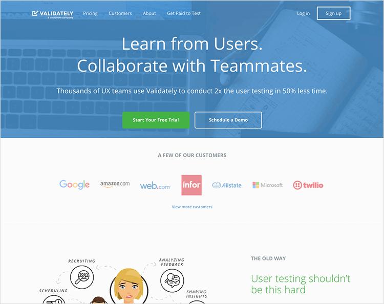 validately usability testing tool