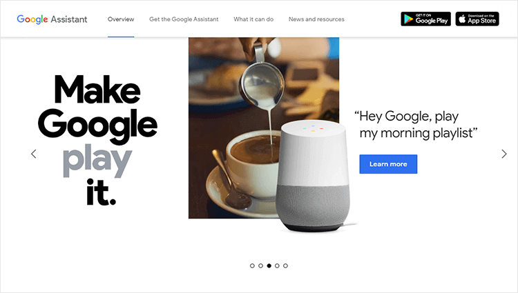 example of voice user interface - google assistant